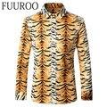 Men Shirt 2016 Tiger Print Men Shirts Long Sleeve Fashion Casual Designer Brand Autumn Printed Shirts CBJ-T0068