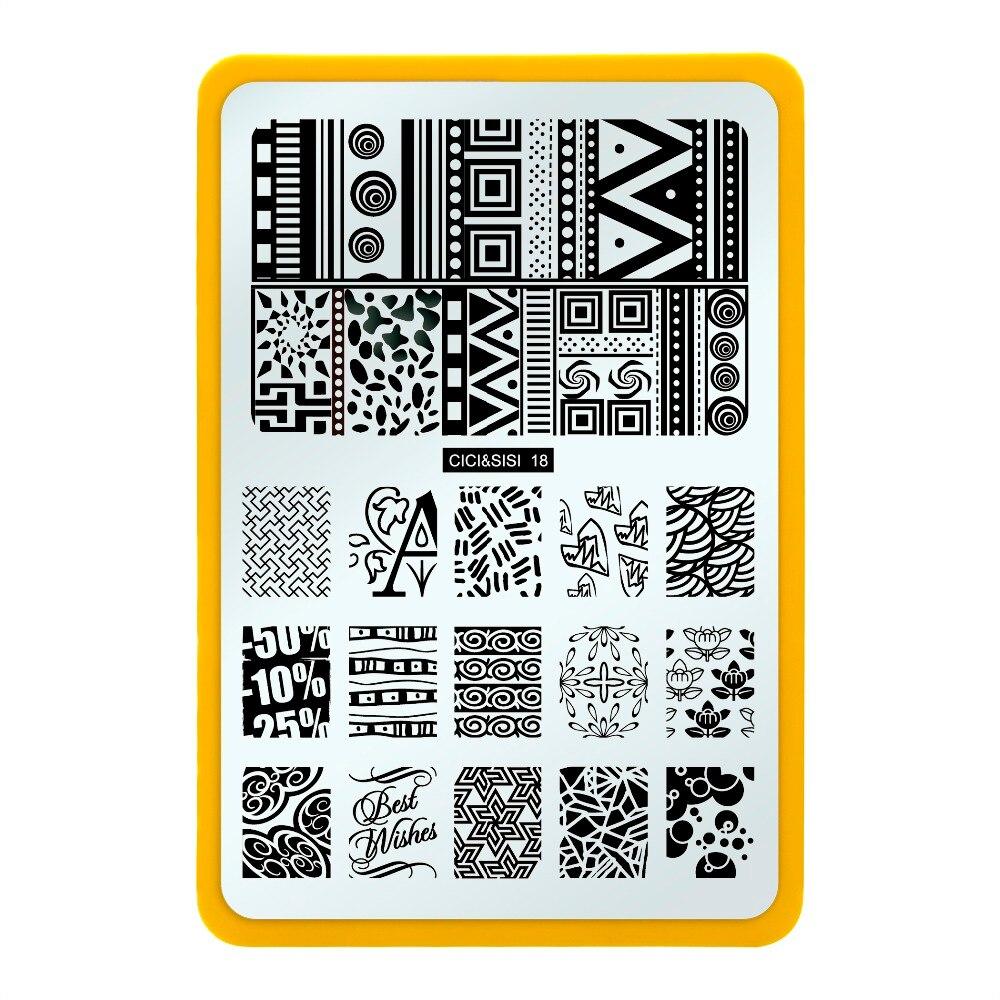 991d17a2c1 Clavo estampado placas de acero inoxidable Nail Art Stamp estampado placas  plantilla flores diseño imagen placa Nail Art decoraciones