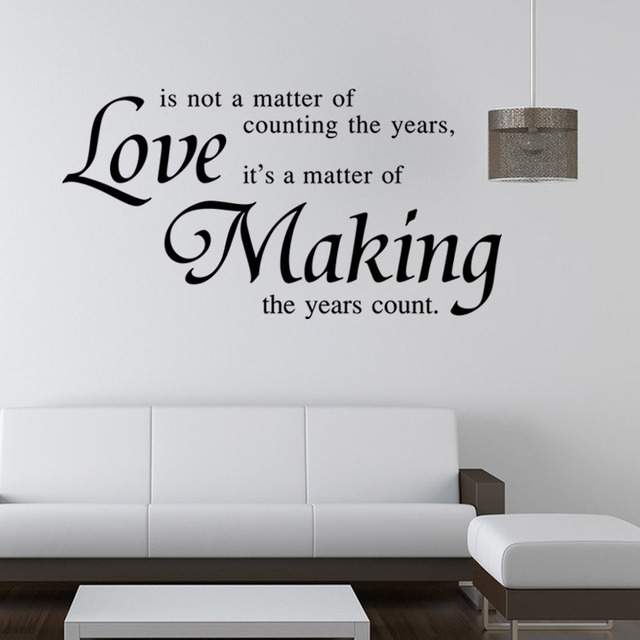 Love is not a matter of quote Removable Cute Shelf Art Character ...