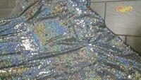 2017 Réversible Laser Sequin Tissu Dragon Sirène Échelle de Poissons Tissu pour Tissu Enfants Literie Home Textile pour Coudre Tilda Poupée