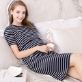 Striped Korean Maternity Clothes Dress For Breastfeeding Lactation Mothers Pregnant Clothes Sport Maternity Dress Tunic 502005