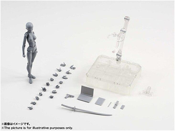 SHFiguarts KÖRPER KUN/KÖRPER CHAN körper-chan körper-kun Grau Farbe Ver. schwarz PVC Action Figure Sammeln Modell Spielzeug 6 Stile