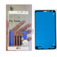 LOVAIN 1PCS (Tested) For Samsung Galaxy Note4 Note 4 Edge N915 N915F Digitizer Touch Screen Glass Panel+Tools+Adhesive