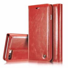 CaseMe For iPhone 7 /7 Plus  Luxury Retro Leather Stand Flip Phone Cases Card Slot Wallet Cover Back Case For iPhone 7 Plus 5.5