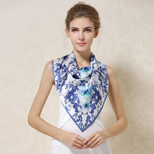Fashion 70 * CM Ladies Scarves Four Seasons Available Womans Professional Small Squares New Design Silk Scarf F526