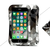 Camouflage color Metallic Glossy Small waist cover for iphone 7 8 PLUS X S R MAX protective Anti knock phone shell