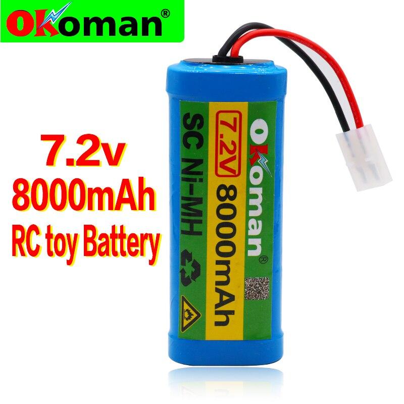 Tamiya Con Para V 8000 Recargable Descarga Rc Conector 7 Mah Nimh Juguete Batería 2 De PwknO0