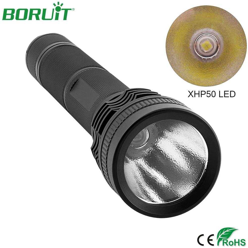 BORUiT High Power XHP50 LED Taschenlampe 5 Modi Tragbare Taktische Taschenlampe Wasserdichte Camping Jagd Laternen