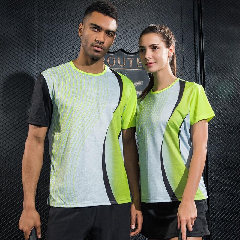 Women/Men table tennis clothes team training gym running T Shirts Running Sportswear Quick Dry breathable badminton shirt