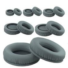 Gray Ear pads 60mm 70mm 45mm-110mm Protein Skin Foam EarPads Cushions for Sennheiser sony Headphones 11.21