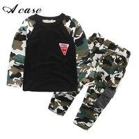 2017 New Camouflage Kids Clothing Set For Boys Girls Spring Autumn Cotton Camo Boys Sports Set