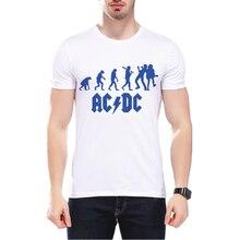 2017 New Iron Maiden ACDC Punk Band Rock T Shirt Mens Novelty Graphic Print Heavy Metal Hip Hop Short Sleeve Men's T Shirt L9O6
