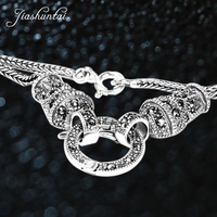 JIASHUNTAI vintage silver 925 long statement necklace chain punk sterling silver jewelry bijoux animaux for women or men jewelry