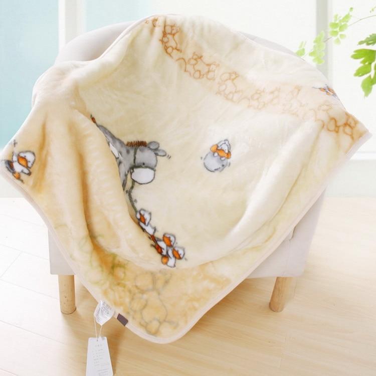 बच्चों को डबल मोटी कंबल शिशु बच्चे बच्चे कंबल कार्टर के बच्चे कंबल नवजात बिस्तर सेट एडन ऐस 2 परतों कंबल