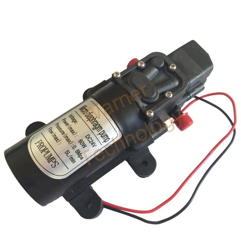 ФОТО Free shipping Mini electric diaphragm pump DC24V Self-Priming pump 1.5m 60W 5 L/MIN, 0.8mpa Car wash Long life