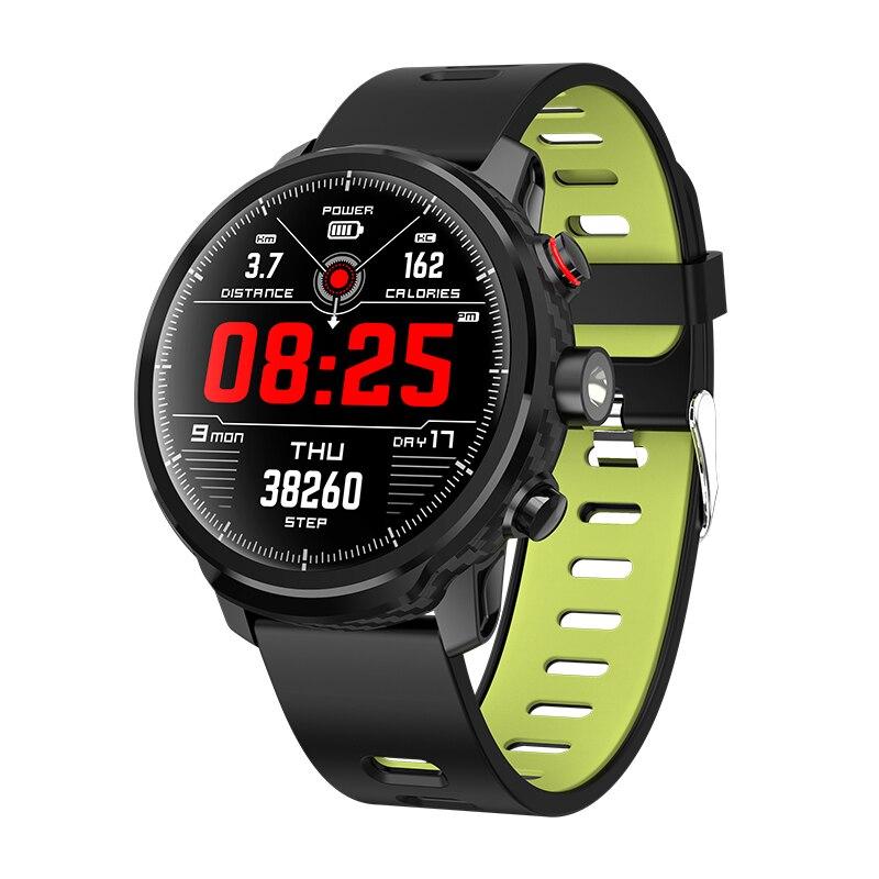 L5 montre intelligente hommes IP68 étanche en veille 100 jours Mode de sport Multiple surveillance de la fréquence cardiaque prévision météo Smartwatch PK m3