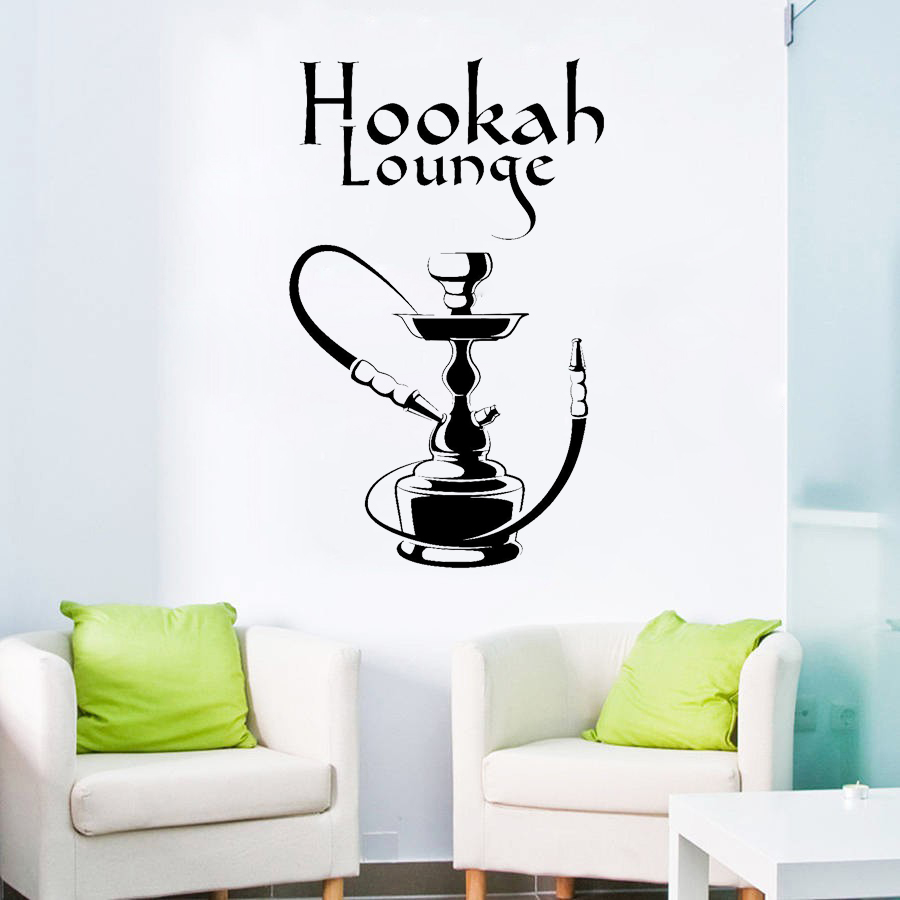 Us 4 98 25 Off Classic Pattern Vinyl Wall Decal Hookah Lounge Smoking Shisha Arabic Bar Stickers Living Room Bedroom Decoration Mural D446 In Wall