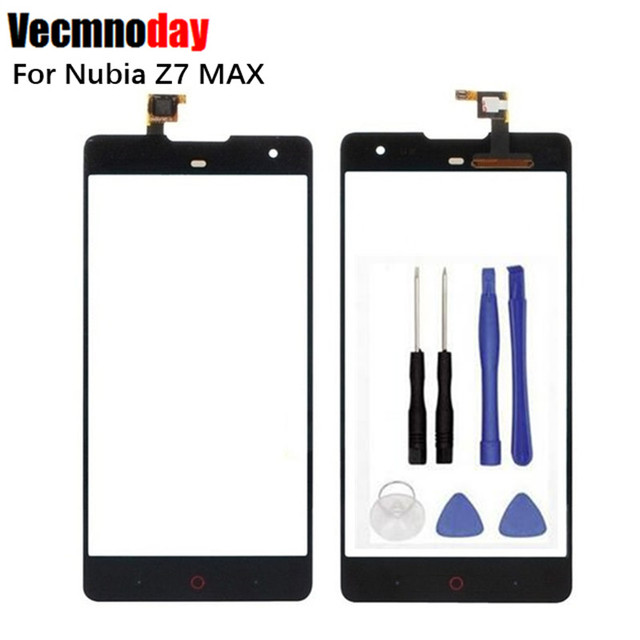 Vecmnoday 100% New Touch screen For ZTE nubia Z7 max NX505J touch Screen Digitizer Front Glass Touch Panel Replacement + tool