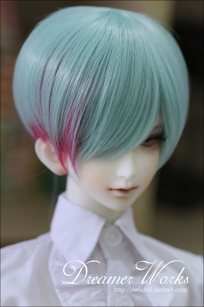 1/4 1/3 scale BJD  doll wig short hair for DIY BJD/SD accessory.Not included doll,clothes,shoes,and other accessories 17C3251 25cm 100cm doll wigs hair refires bjd hair black gold brown green straight wig thick hair for 1 3 1 4 bjd diy