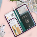 candy colors pu leather long passport wallet Passport/Credit Card Holder Protector Cover Case APH133