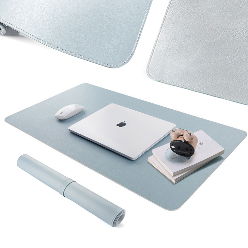 Double-side PU Leather & Velvet Usable Mouse Pad Portable Large Gaming Mousepad Waterproof Desk Pad Grand Mat 60x30 80x40cm