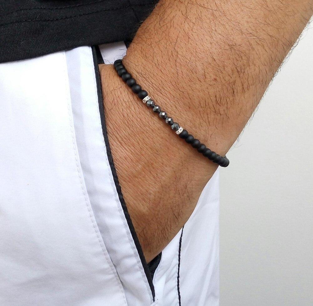 Мода 2020, новые простые браслеты ручной работы для мужчин, браслеты с камнями, стильные ювелирные изделия, подарок, Pulsera Hombre|Браслеты с шармами|   | АлиЭкспресс