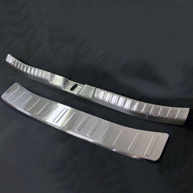 New For Toyota Corolla Sport Hatchback 2019 Car Trunk Guard Plate Sticker Rear Bumper Steel Anti Scuff Protectors Trim Cover
