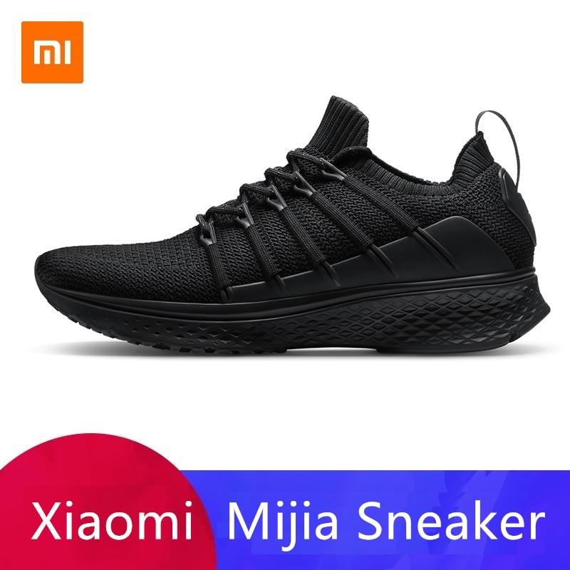 Xiaomi Mijia Sneaker 2 Sports de plein air intelligents pour hommes nouveau système de verrouillage des os de poisson empeigne à tricoter élastique pour hommes sport intelligent