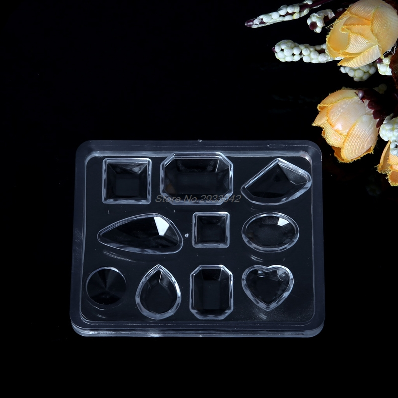 Free Shipping Geometric Jewelry Mold Pendant Earring Silicone Resin Craft Making Tool Handmade-W128