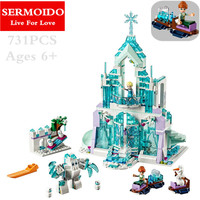 Model Building Kits Compatible Lepine City Elsa S Magical Ice Castle 3D Blocks Educational Toys Hobbies