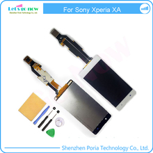 Black White Pink and Gold Color For Sony Xperia XA LCD Display and Touch Screen Digitizer