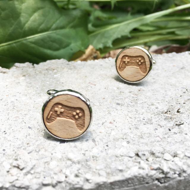 Wood Cufflinks Wooden Jewelry Cufflink Suit X 1 Pair