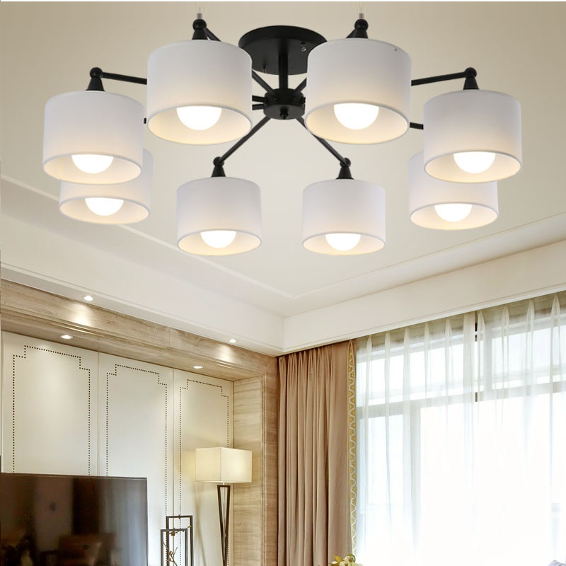 LED ceiling Chandelier For Living Room E27 Chandelier Lighting With Lampshades Dining Chandeliers Modern Kitchen Lamps lights цена