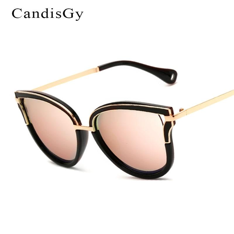 2017 new cat eye mode creux lunettes de soleil miroir femmes marque designer  lady femme lunettes de soleil uv400 métal cadre e57aaa5bb57c
