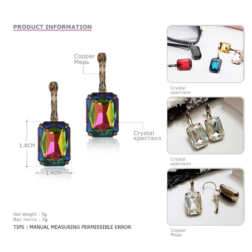 eManco Fashion Costume Smykker Øreringe til kvinder 19 farver - Mode smykker - Foto 4