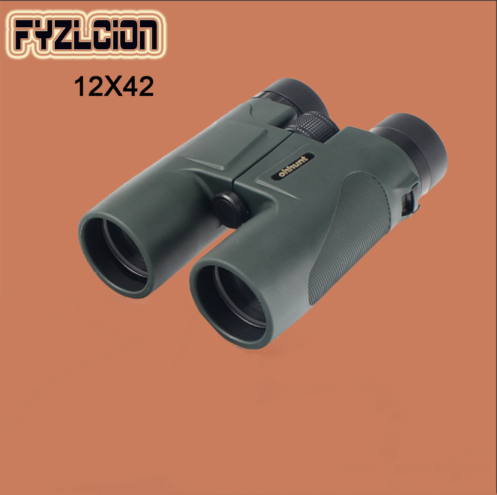 Fyzlcion Military 12X42 HD Telescope Wide-angle Power Zoom Binoculars No Infrared Eyepiece for Hiking Camping 428 10t 19t 20mm front engine sprocket for stomp ycf upower dirt pit bike atv quad go kart moped buggy scooter motorcycle