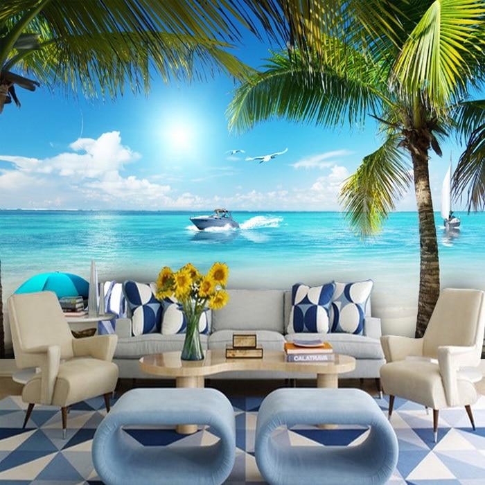 Free shipping 3D Beach theme Seaview Hotel Rooms mahjong ...