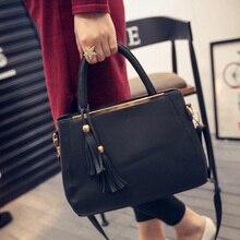 2016 Lastest Designer Tote Damen Handtaschen Frauen Leder Handtaschen Luxus Marke Fringe Aktentasche für Arbeit Shopper Partei Geldbörsen