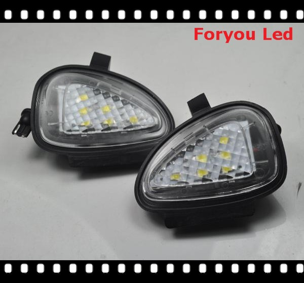 Free shipping 2pcs Error Free Car LED Side Mirror Puddle Light For Vw Volkswagen Golf 6 09-12 Touran Passat B7 2010-Present
