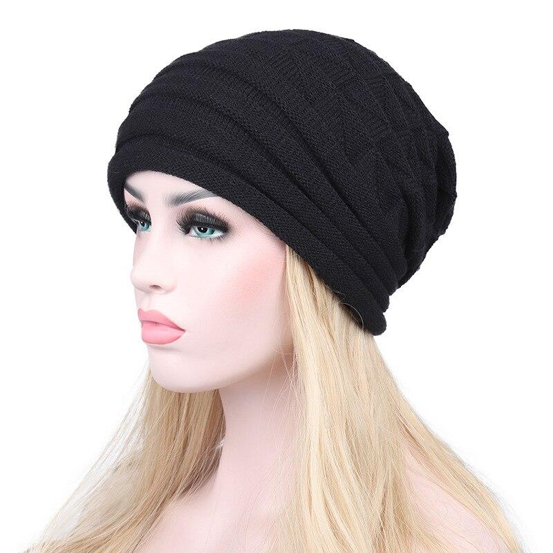 New Cap Women Warm Autumn Winter Beanies Woman Hat Knitted Skullies Outdoor Sport Hats For Womens Hollow Gorros Bonnet