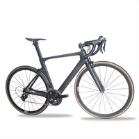 Miracle 700c Aero Carbon Road Bike 7.8KG Complete bike Road Bicycle tubular Wheels 49cm,52cm,54cm,56cm,59cm