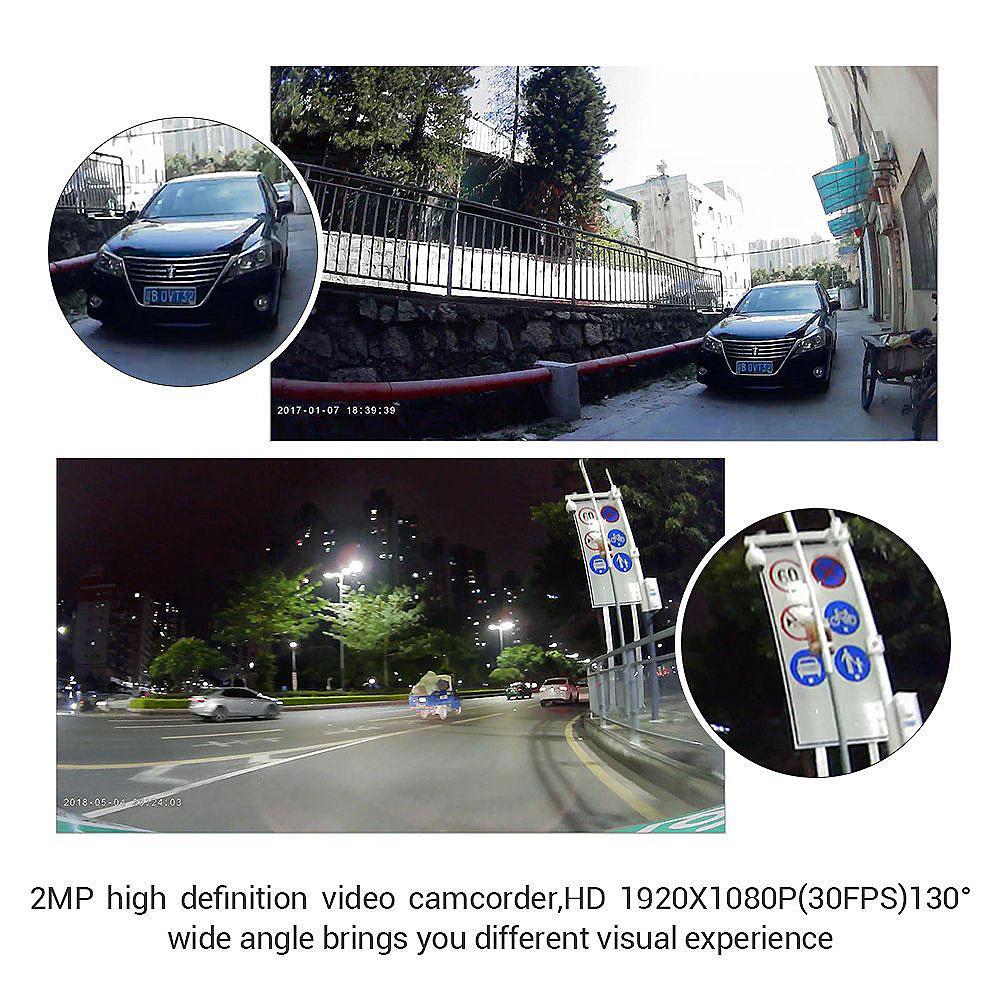 DV688 Blueskysea DV688 Motorcycle Dash Cam 1080p Dual Lens Motorcycle Recording Camera 2.35 LCD IP67 Waterproof Screen 130 Degree Angle Night Vision Latest Version