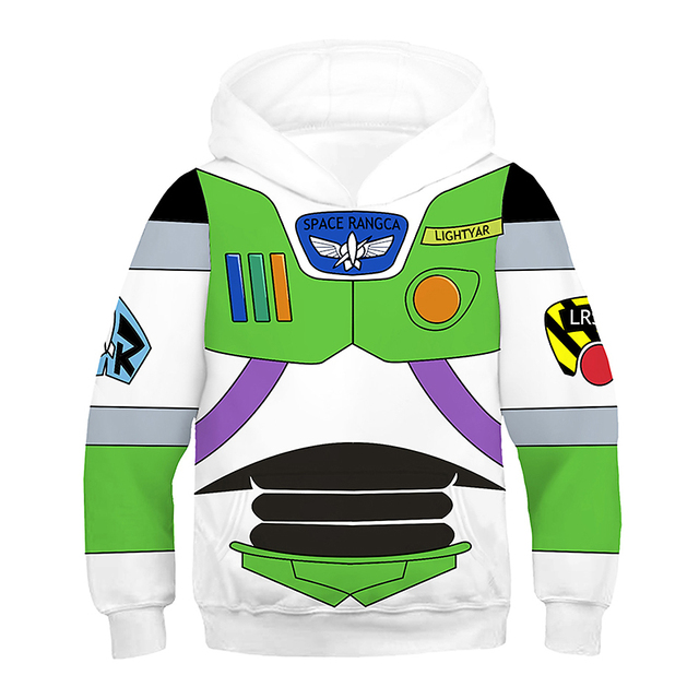 3D Printing Kids Anime Costume Toy Story Cosplay Superhero Iron Man Hoodies Boy Girl Buzz Light Year Woody Spider Man Sweatshirt 1
