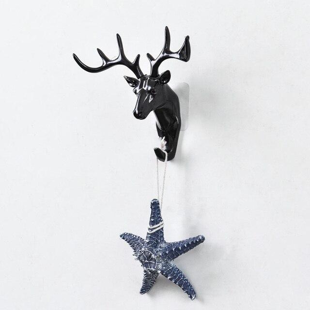 European Plastic Deer Statue Crafts Animal Ornament Shelf Rack Stand Figurines Home Decor Living Room Decor Wedding Gift 5