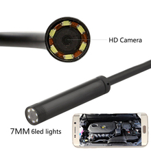 7mm Lens Car Inspection Camera Scope 6LED Borescope 5M Tube Cable HD USB Android PC 5V DC Endoscope Hard-to-reach Areas