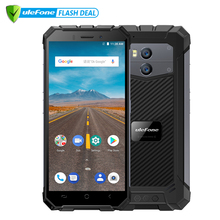 "Ulefone Armour X Waterproof IP68 Smartphone 5.5 ""HD Quad Core Android 8.1 2GB + 16GB 13MP NFC Face ID 5500mAh Telefon Tanpa Wayar"