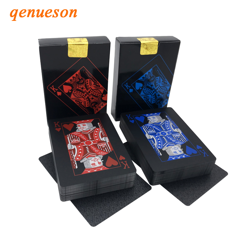 high-quality-red-blue-smooth-waterproof-black-plastic-playing-cards-texas-hold'em-font-b-poker-b-font-cards-baccarat-board-games-248-346inch