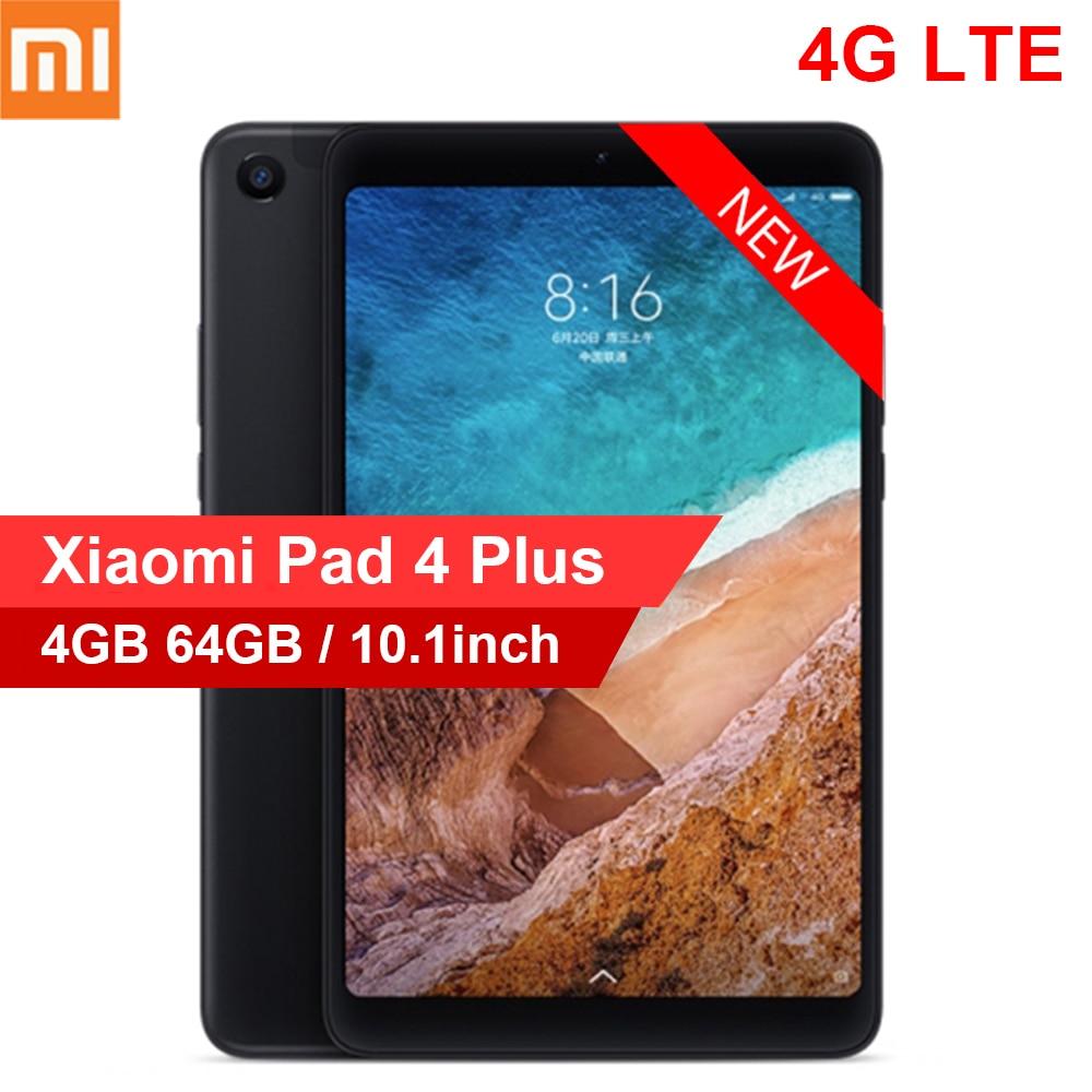 Xiao mi Pad 4 Plus 4G Phablet 10.1 pouces mi UI 9.0 Qualcomm Snapdragon 660 4 GB 64 GB reconnaissance faciale 5.0MP 13.0MP double caméras