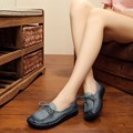 2017 ORIGINAL HANDMADE GENUINE LEAHTER WOMEN SUMMER CASUAL FLAT SHOES SOFT BOTTOM LACE-UP WOMEN FLATS SIZE 35-40