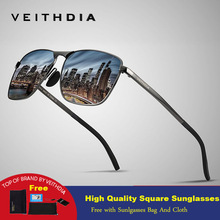 Veithdia 2019 Brand New Designer Fashion Square Sunglasses M